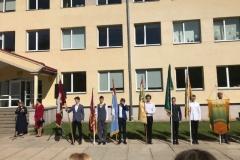Cēsu skolnieku rotas piemiņas karoga maiņas ceremonija Mazsalacā